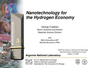 Nanotechnology for  the Hydrogen Economy