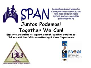 Juntos Podemos! Together We Can!