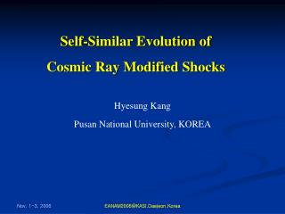 Self-Similar Evolution of  Cosmic Ray Modified Shocks