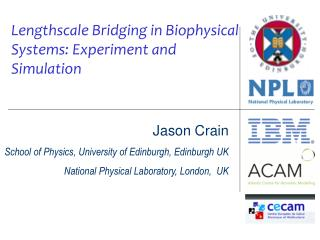Jason Crain School of Physics, University of Edinburgh, Edinburgh UK