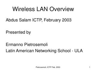 Wireless LAN Overview