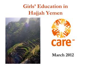 Girls '  Education in  Hajjah Yemen