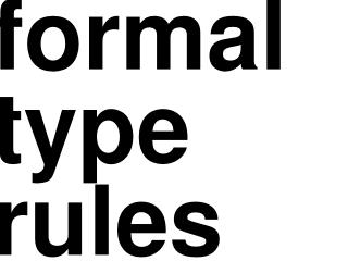 formal type rules