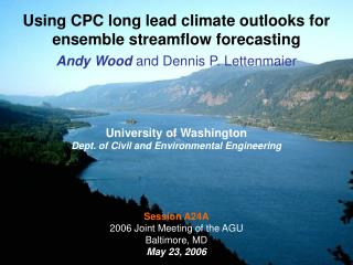 Using CPC long lead climate outlooks for ensemble streamflow forecasting