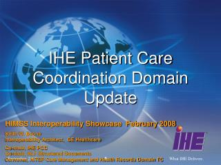 IHE Patient Care Coordination Domain Update