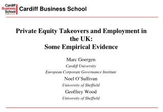 Private Equity Takeovers and Employment in the UK: Some Empirical Evidence