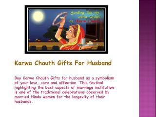 Karwachauth Gifts For Husband