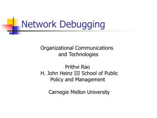 Network Debugging