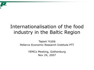 Internationalisation of the food industry in the Baltic Region