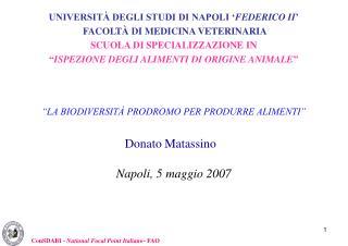 Napoli, 5 maggio 2007