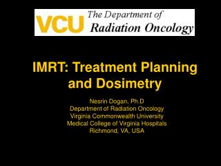 IMRT: Treatment Planning and Dosimetry