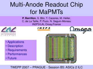 Multi-Anode Readout Chip  for MaPMTs