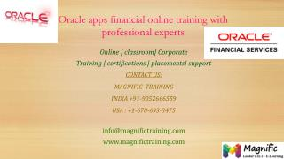 oracle apps financial online training in mumbai