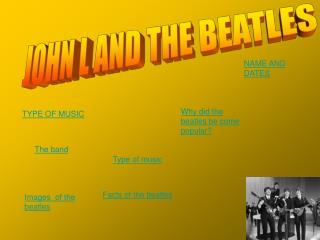 JOHN L AND THE BEATLES