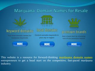Marijuana Domain Names for Resale