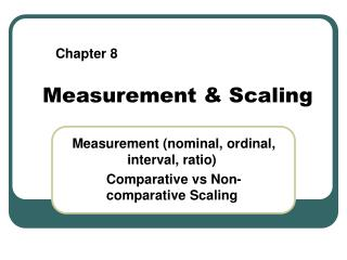 Measurement & Scaling