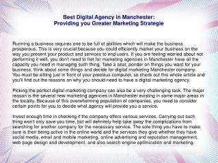 Best Digital Agency in Manchester