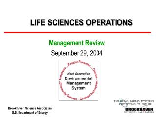 LIFE SCIENCES OPERATIONS