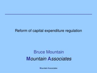 Reform of capital expenditure regulation
