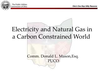 Electricity and Natural Gas in a Carbon Constrained World
