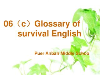 06 ( c ) Glossary of survival English