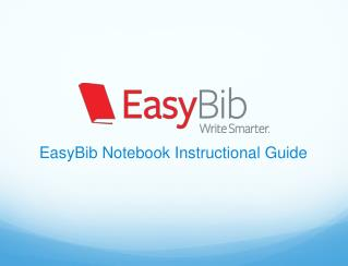 EasyBib Notebook Instructional Guide