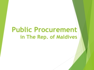 Procurement Officer  Training