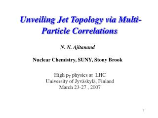 Unveiling Jet Topology via Multi-Particle Correlations