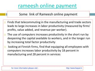 Feepal give batter services of rameesh online payment
