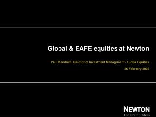 Global & EAFE equities at Newton