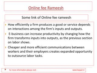 Latest news about online fee rameesh