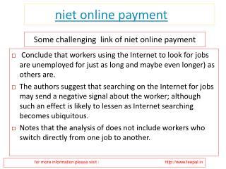 Introduce about niet online payment
