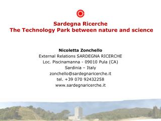 Sardegna Ricerche   The Technology Park between nature and science