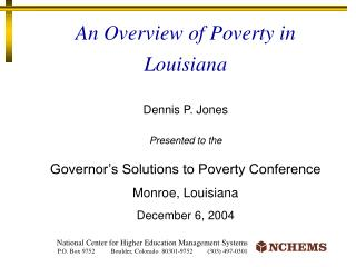 An Overview of Poverty in Louisiana
