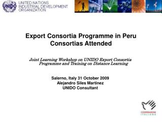 Export Consortia Programme in Peru Consortias Attended