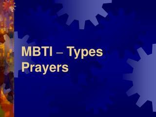 MBTI – Types Prayers