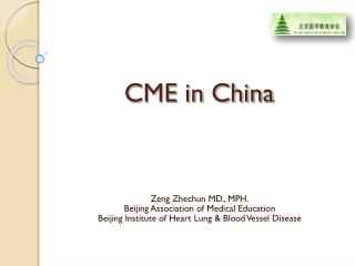 CME in China