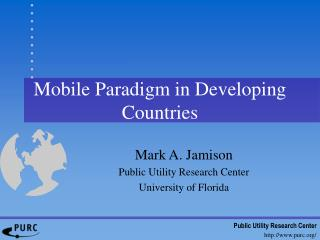 Mobile Paradigm in Developing Countries