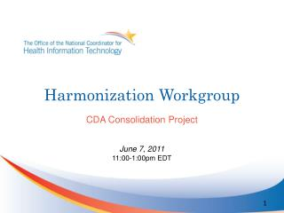 Harmonization Workgroup