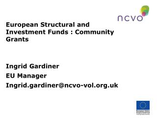 European Structural and Investment Funds : Community Grants