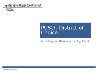 PUSD: District of Choice