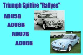 "Triumph Spitfire ""Rallyes"""