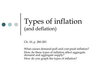Types of inflation  (and deflation)