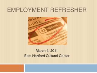 EMPLOYMENT REFRESHER