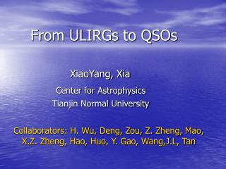 From ULIRGs to QSOs