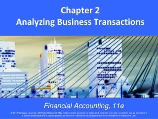 Chapter 2 Analyzing Business Transactions