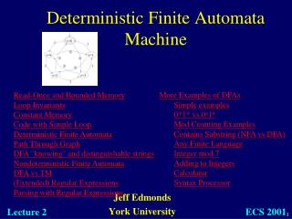 Deterministic Finite Automata Machine