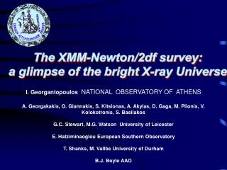 The XMM-Newton/2df survey: a glimpse of the bright X-ray Universe