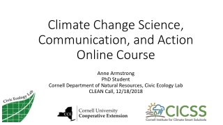 Climate Change Science, Communication, and Action Online Course