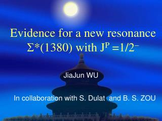 Evidence for a new resonance  S *(1380) with J P  =1/2 -